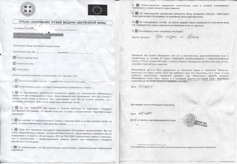 в каком случае могут отказать выдать визу в венгрию