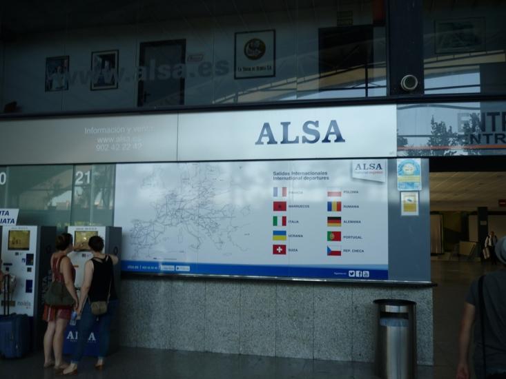Покупка билетов на автовокзале Валенсии