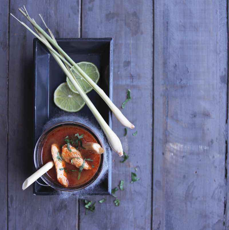 Thailändische Tom Yum Suppe